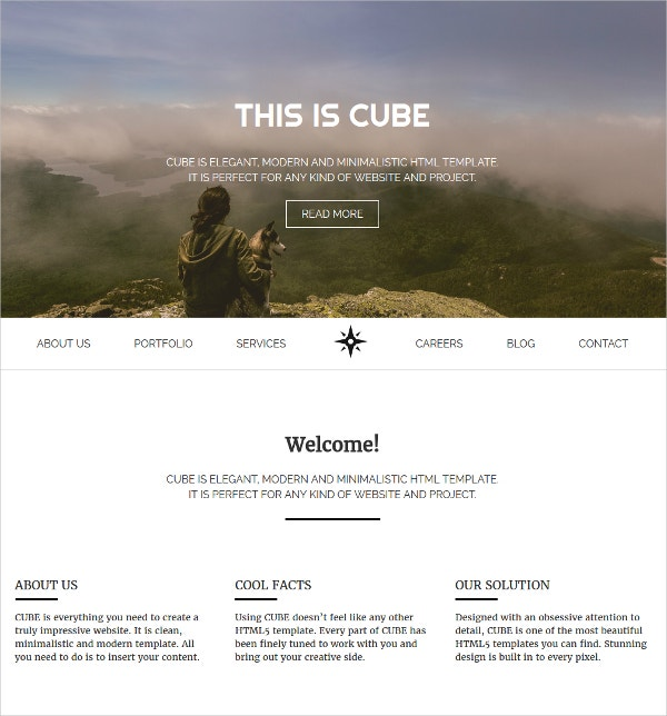 design responsive html5 website template 8