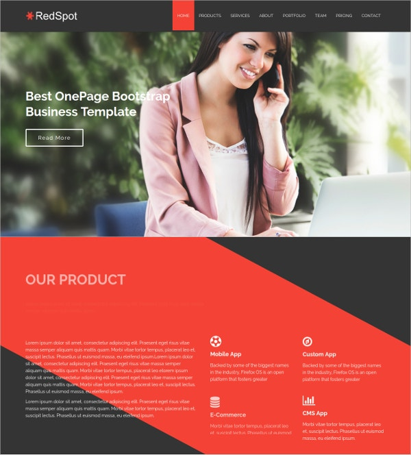 Corporate Bootstrap Responsive HTML5 Website Template $9