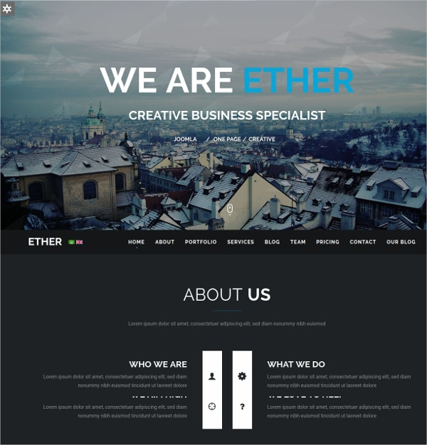multipurpose one page joomla website template 43
