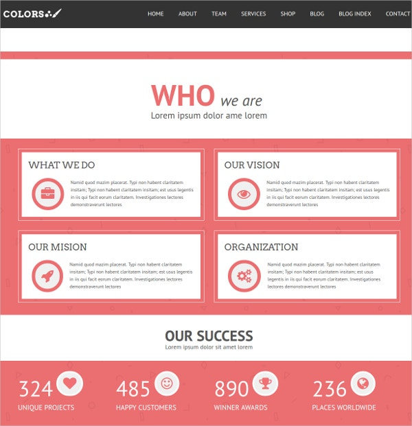Bootstrap WordPress Website Theme for Business Agency $59