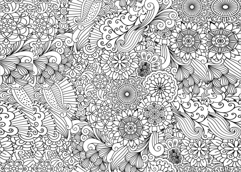Seamless Zentangle Pattern