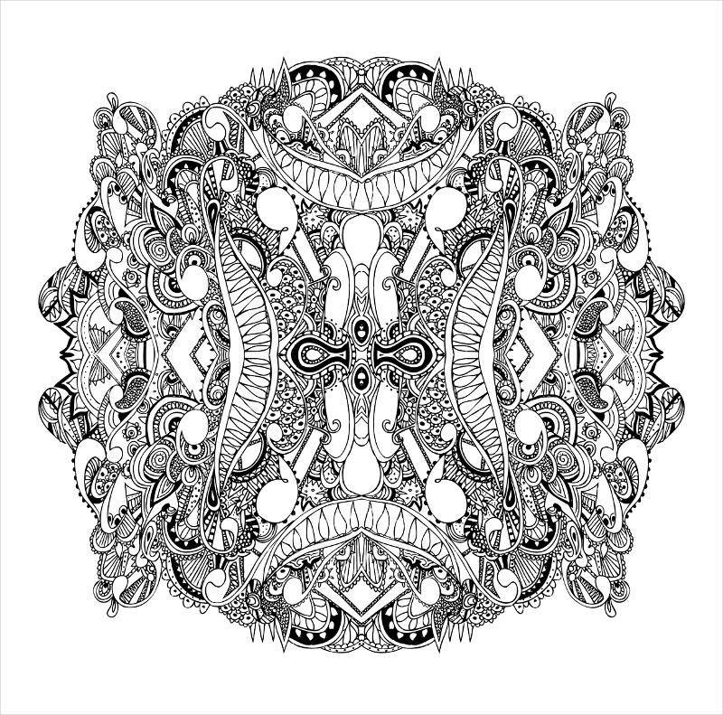 Spherical Zentangle Pattern