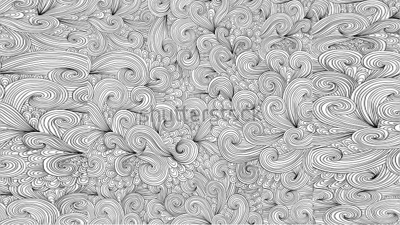 Hand Drawn Zentangle Pattern