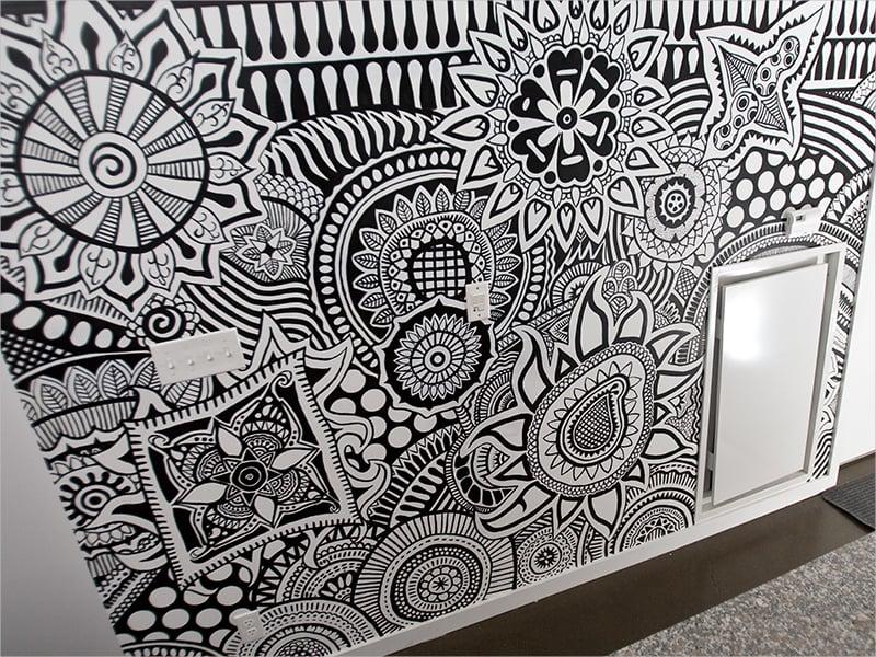 Loft Wall Mural Zentagle Pattern