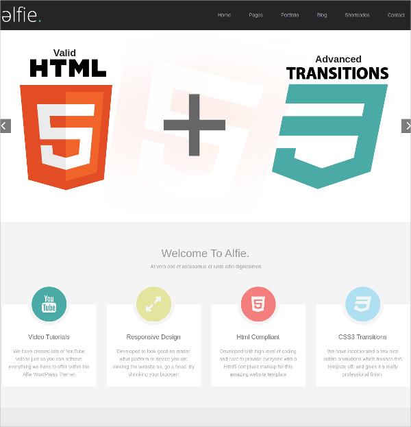 Modern Portfolio Bootstrap WordPress Website Theme $44