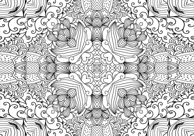 Floral Zentangle Pattern