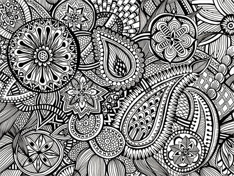 zentangle Paisley Pattern