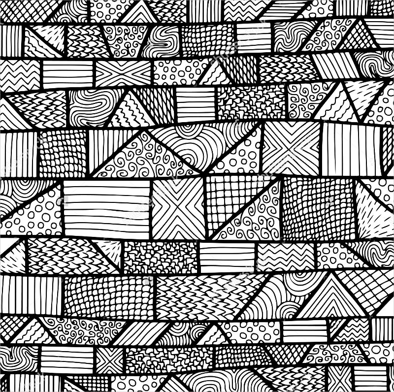 Black & White Pattern with Zentangle
