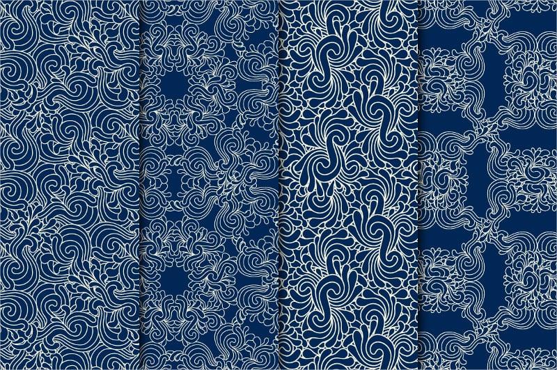 Decorative Zentangle Pattern Set