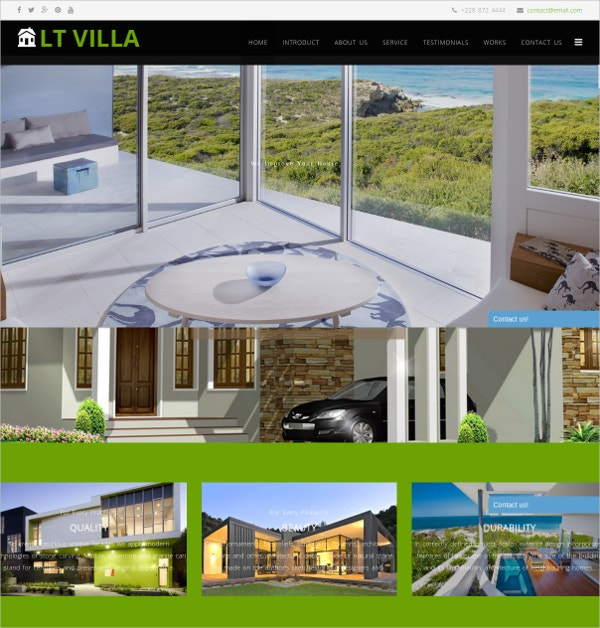 Real Estate Bootstrap Joomla Website Template $19