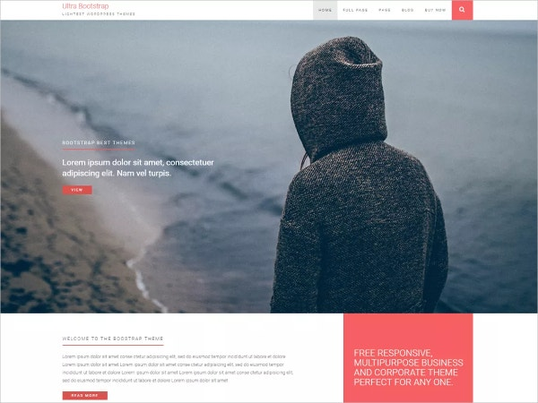 Free Bootstyrap WordPress Website Theme for Bloggers & Artist
