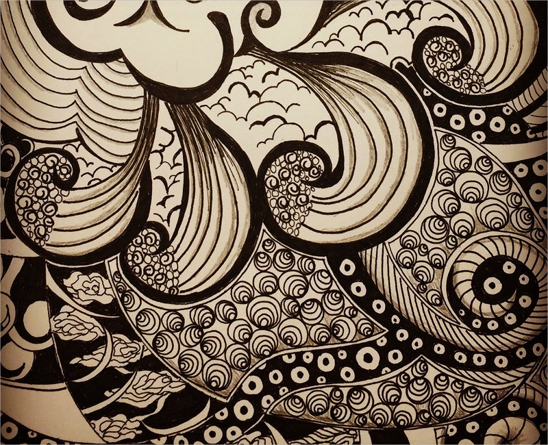 Pattern Drawing with Zentangle