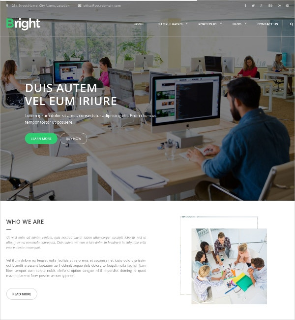 Responsive Bootstrap HTML Website Template for Business & Corporate Agency $29