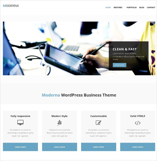 Bootstrap WordPress Website Theme for Corporate Busines