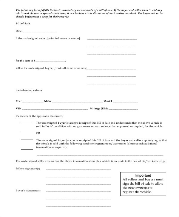 sample-bill-of-sale-template