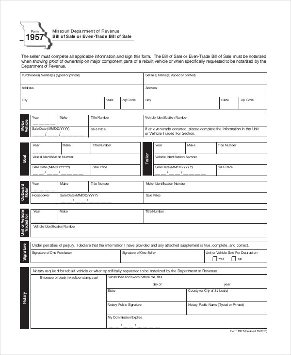 sample-even-trade-bill-of-sale