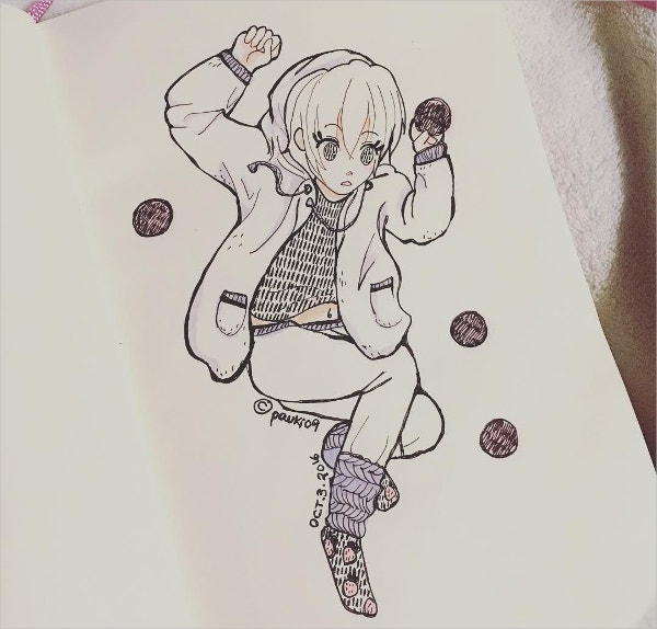 Cute Kawaiigirl Drawing