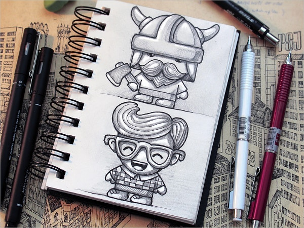 Tiny Characters Drawing