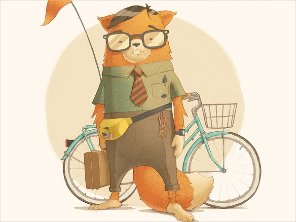 Cute Hipster Drawing