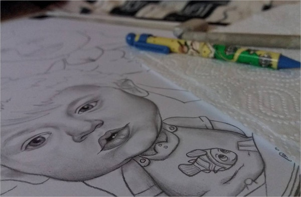 baby cute drawing