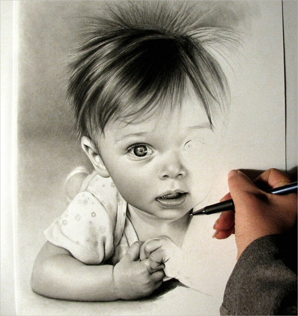 Cute Little Baby Drawing