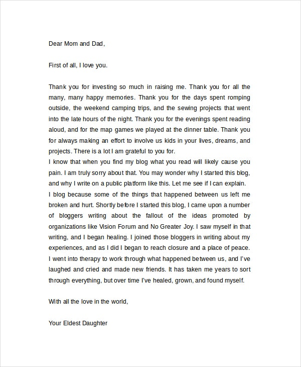 Thank You Letter For Gifts Examples  Free  Premium Templates