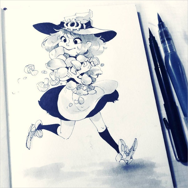 animation girl drawing