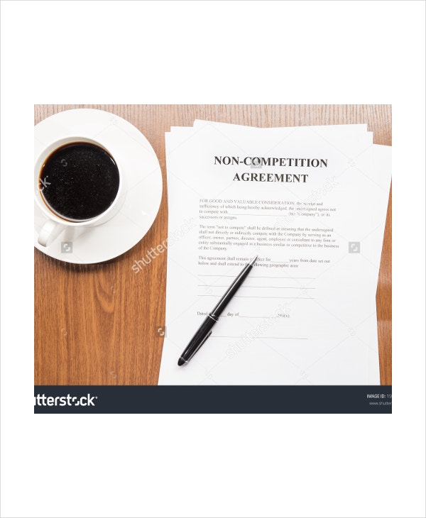 non competition agreement template