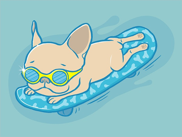 Frenchie Sliding Drawing