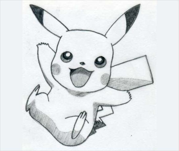easy to draw pikachu