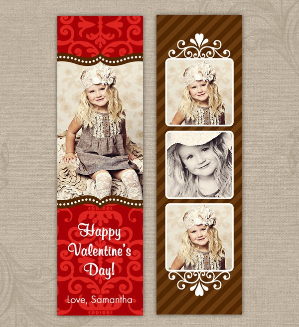 Valentine Bookmark Template