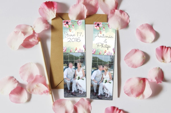 Save the Date Bookmark Template