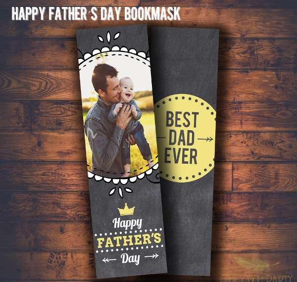 Fathers Day Bookmark Template