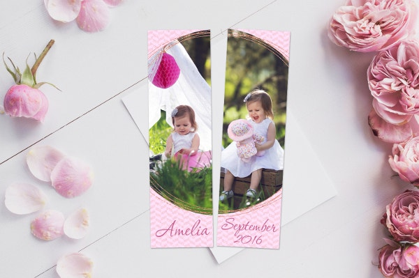 Hello Gorgeous Bookmark Template