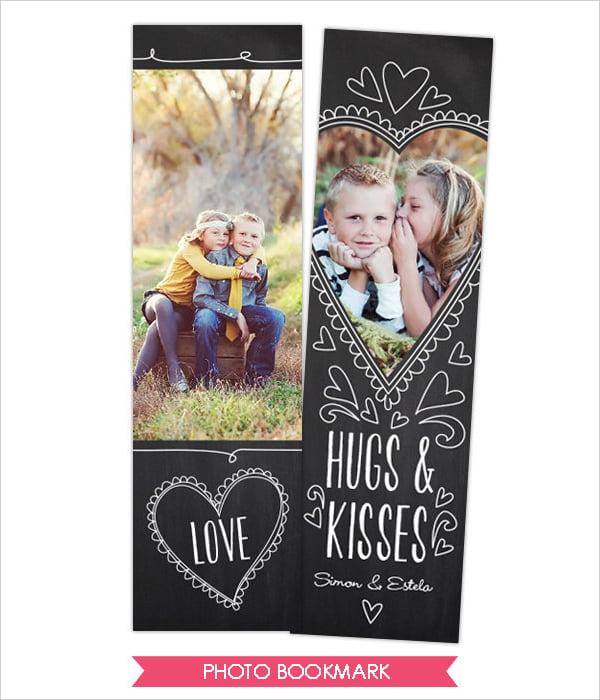 valentine design bookmark template