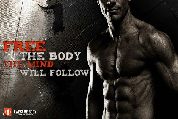 Bodybuilding Motivational Silk Poster