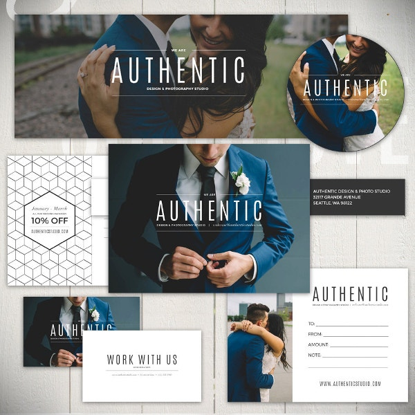 photography marketing post card template