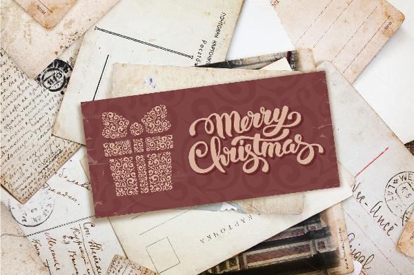 christmas event postcard template
