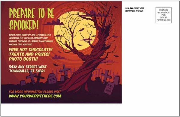 haunted house postcard template