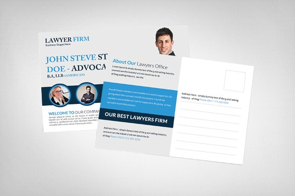 Advocate Lawyer Postcard