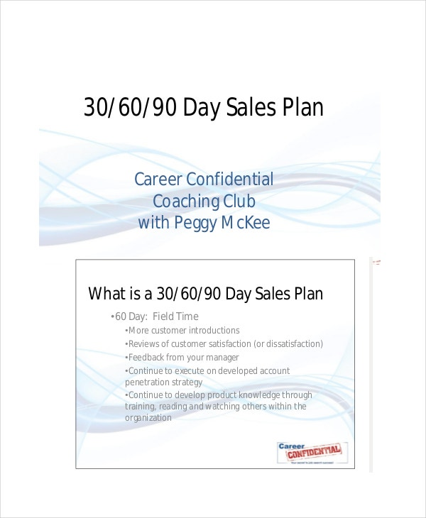 30 60 90 Day Plan Example 7 Free Word PDF PPT Documents – Sales Strategy Template