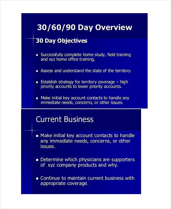 30 60 90 day business plan
