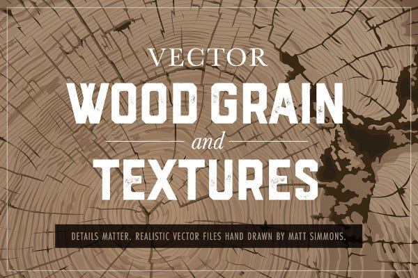 12 vector wood grain textures