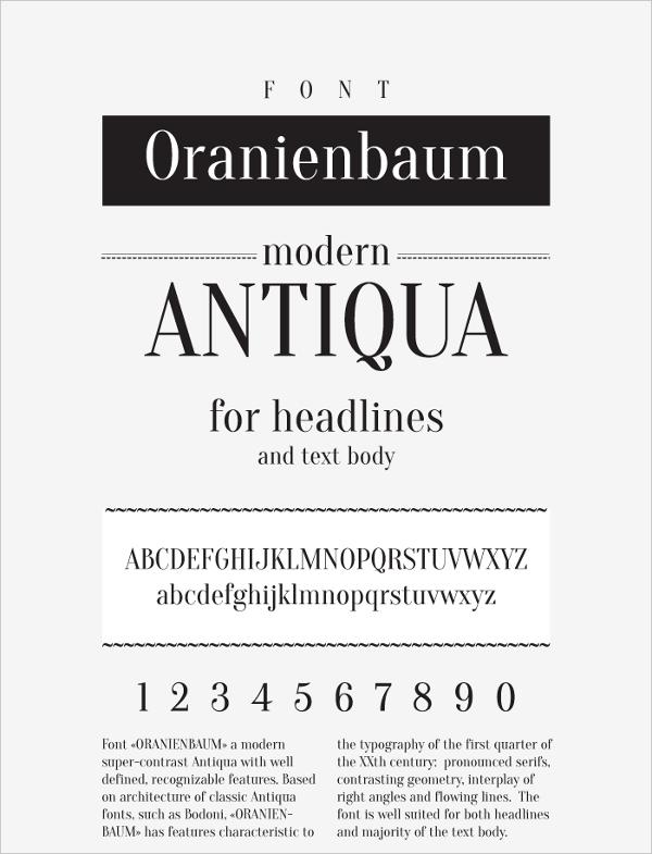 Oranienbaum Fonts