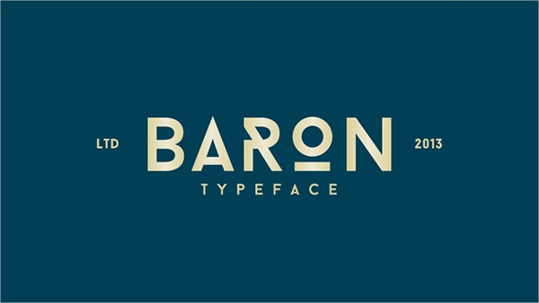 display typerface font
