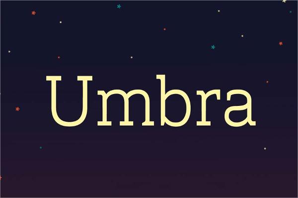 Umbra Free Font