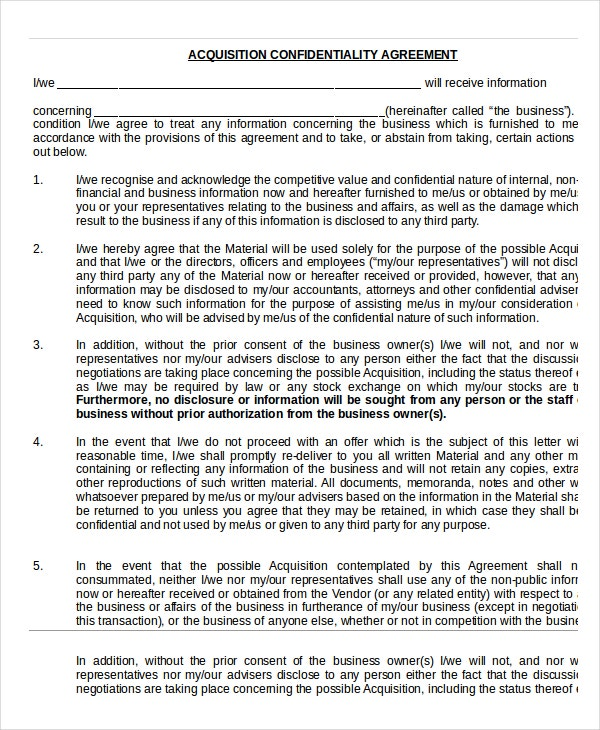 Confidentiality Agreement 13 Free Word PDF Documents Download – Financial Confidentiality Agreement