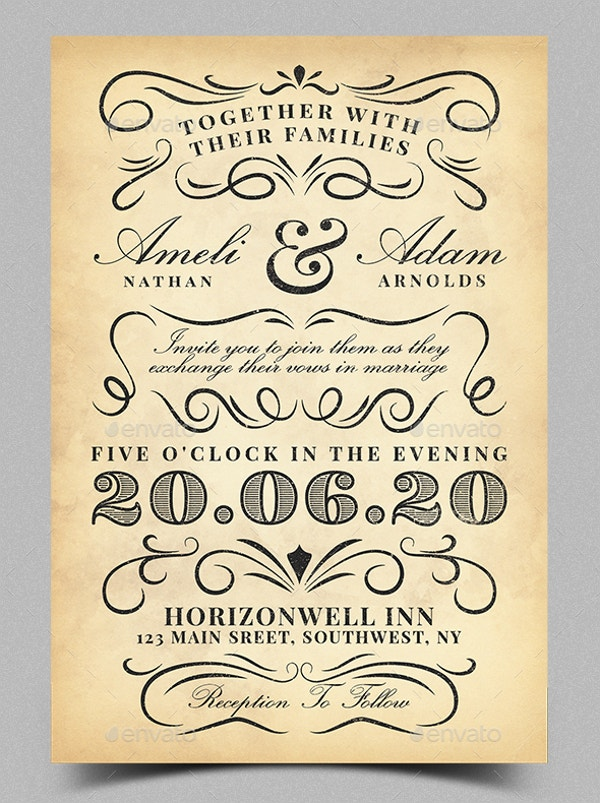 vintage invitation templates - Yeni.mescale.co