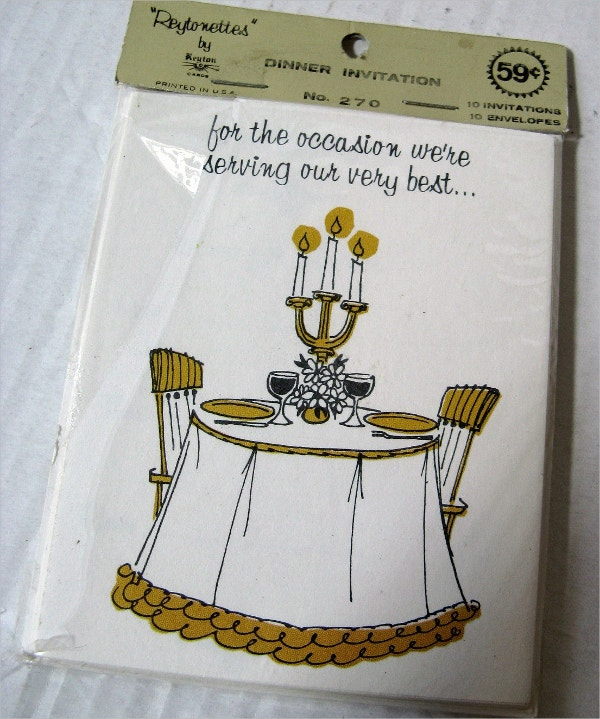 vintage dinner party invitation