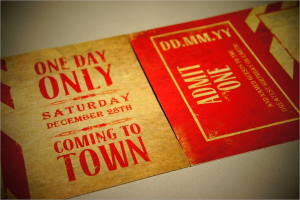 vintage circus party invitation template